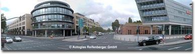Autoglas Reifenberger Mainz gegenüber Fort Malakoff und DB Cargo
